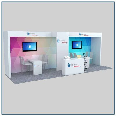 10x30 Trade Show Booth Rental Package 303 - LV Exhibit Rentals in Las Vegas
