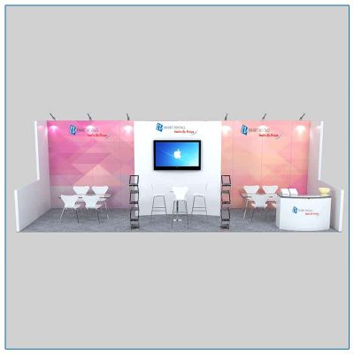 10x30 Trade Show Booth Rental Package 305 Front View - LV Exhibit Rentals in Las Vegas
