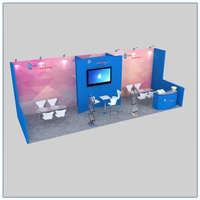10x30 Trade Show Booth Rental Package 305 - LV Exhibit Rentals in Las Vegas