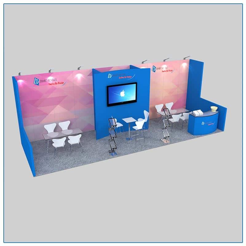 10x30 Trade Show Booth Rental Package 305 - LV Exhibit Rentals in Las Vegas