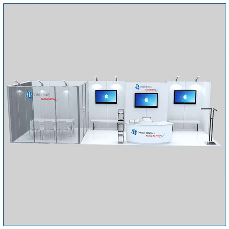 10x30 Trade Show Booth Rental Package 306 Front View - LV Exhibit Rentals in Las Vegas