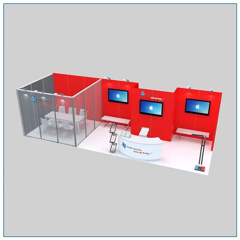 10x30 Trade Show Booth Rental Package 306 - LV Exhibit Rentals in Las Vegas
