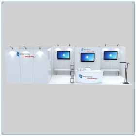10x30 Trade Show Booth Rental Package 306A Front View - LV Exhibit Rentals in Las Vegas