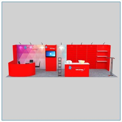 10x30 Trade Show Booth Rental Package 307 Front View - LV Exhibit Rentals in Las Vegas