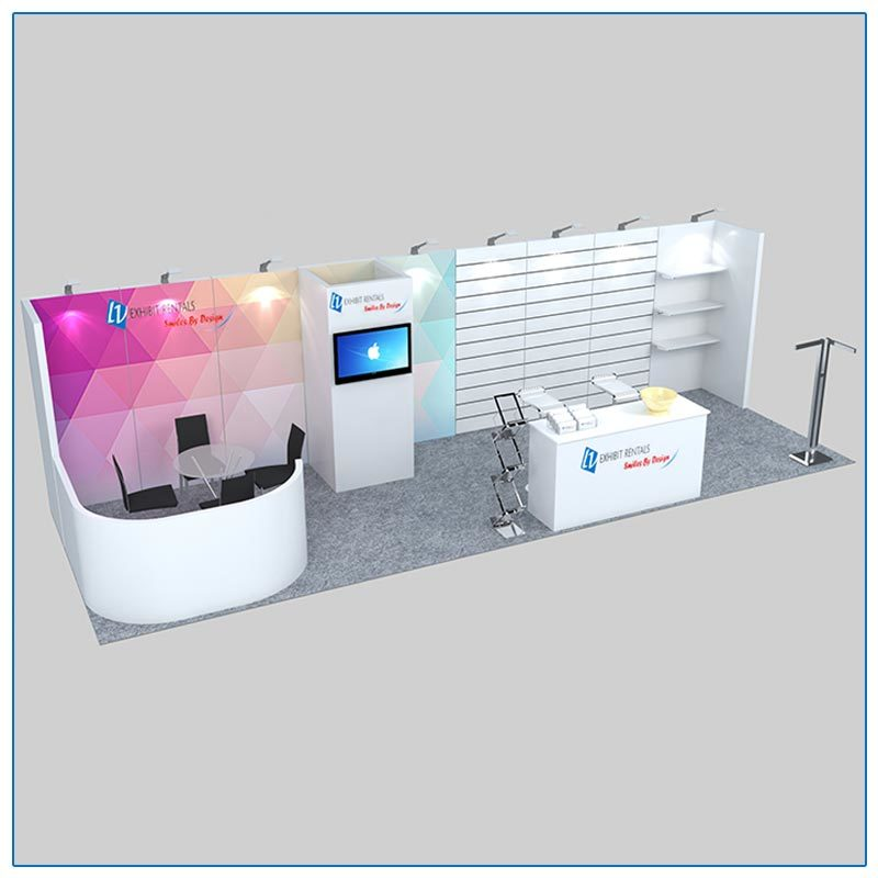 10x30 Trade Show Booth Rental Package 307 - LV Exhibit Rentals in Las Vegas