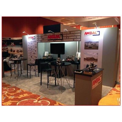 Ambac - 10x20 Trade Show Booth Rental Package 215 - LV Exhibit Rentals in Las Vegas