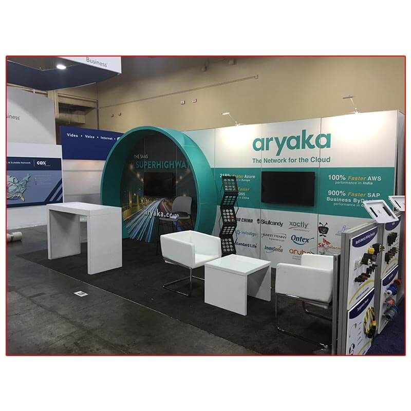 Aryaka - 10x20 Trade Show Booth Rental Package 204 - LV Exhibit Rentals in Las Vegas