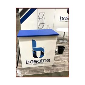 Basatne - 10x20 Trade Show Booth Rental Package 203 - Counter - LV Exhibit Rentals in Las Vegas