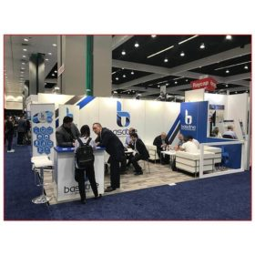 Basatne - 10x20 Trade Show Booth Rental Package 203 - LV Exhibit Rentals in Las Vegas