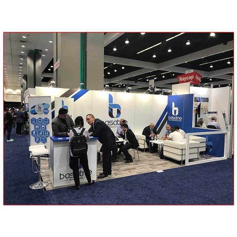 Basatne - 10x20 Trade Show Booth Rental Package 203 - LV Exhibit Rentals in Las Vegas