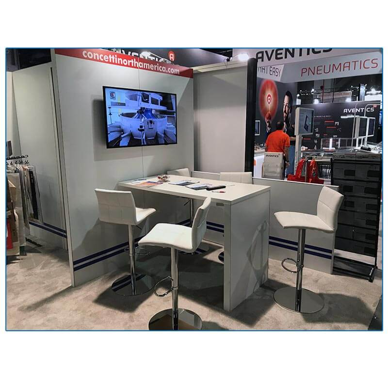 Concetti - 10x30 Trade Show Booth Rental Package 300 - Product Demo Area - LV Exhibit Rentals in Las Vegas