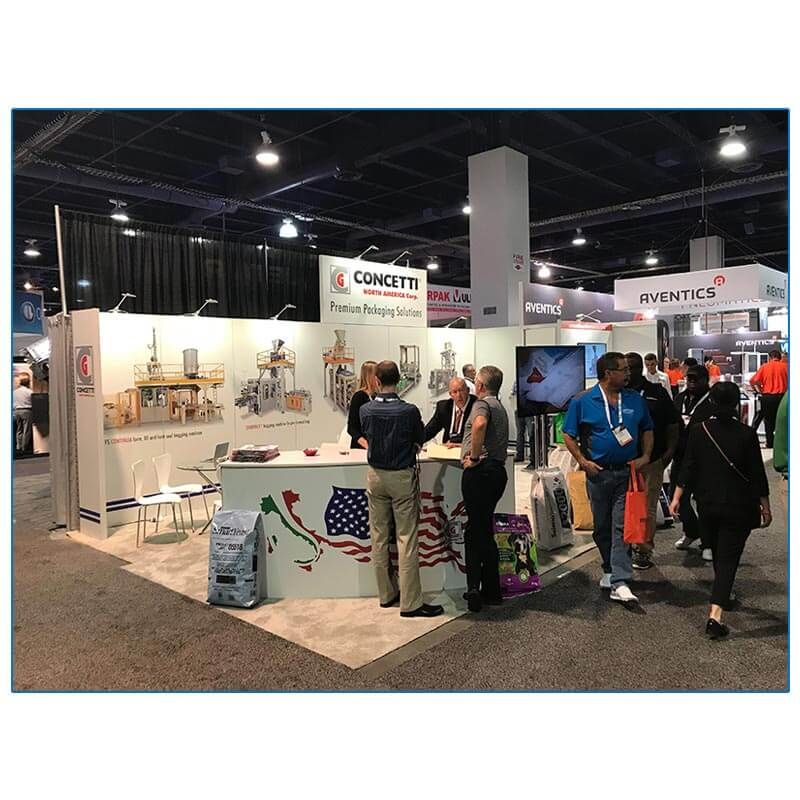 Concetti - 10x30 Trade Show Booth Rental Package 300 - Reception Counter - LV Exhibit Rentals in Las Vegas