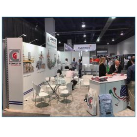 Concetti - 10x30 Trade Show Booth Rental Package 300 - Side View - LV Exhibit Rentals in Las Vegas