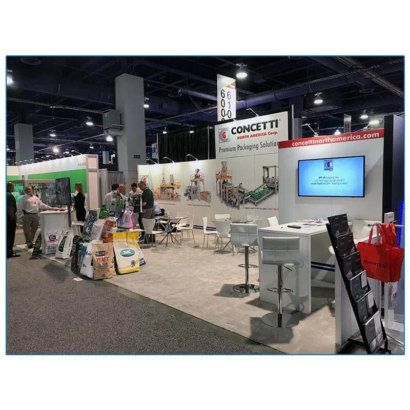Concetti - 10x30 trade show booth rental package 300 - LV Exhibit Rentals in Las Vegas
