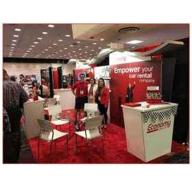 Economy Rent-A-Car - 10x20 Trade Show Rental Package 206 - - LV Exhibit Rentals in Las Vegas