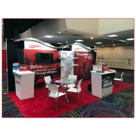 Economy Rent-A-Car - 10x20 Trade Show Rental Package 206 - Left Angle View - LV Exhibit Rentals in Las Vegas