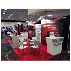 Economy Rent-A-Car - 10x20 Trade Show Rental Package 206 - Side View - LV Exhibit Rentals in Las Vegas