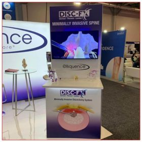 Elliquence - 10x20 Trade Show Booth Rental Package 202 - Kiosk - LV Exhibit Rentals in Las Vegas