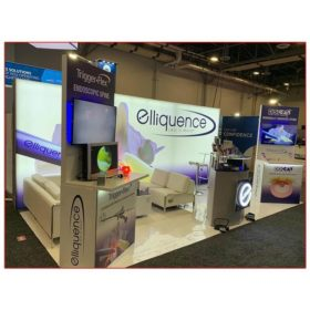 Elliquence - 10x20 Trade Show Booth Rental Package 202 - Lightbox Display - LV Exhibit Rentals in Las Vegas