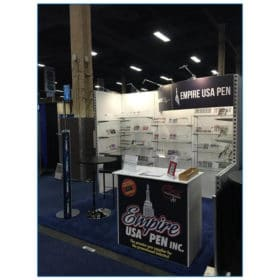 Empire USA Pen - 10x10 Trade Show Booth Rental Package 118 - Angle View - LV Exhibit Rentals in Las Vegas