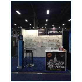 Empire USA Pen - 10x10 Trade Show Booth Rental Package 118 - Front View - LV Exhibit Rentals in Las Vegas