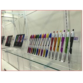 Empire USA Pen - 10x20 Trade Show Booth Rental Package 207 -Glass Shelves Product Display - LV Exhibit Rentals in Las Vegas