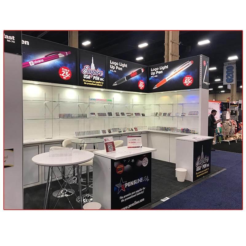 Empire USA Pen - 10x20 Trade Show Booth Rental Package 207 - LV Exhibit Rentals in Las Vegas