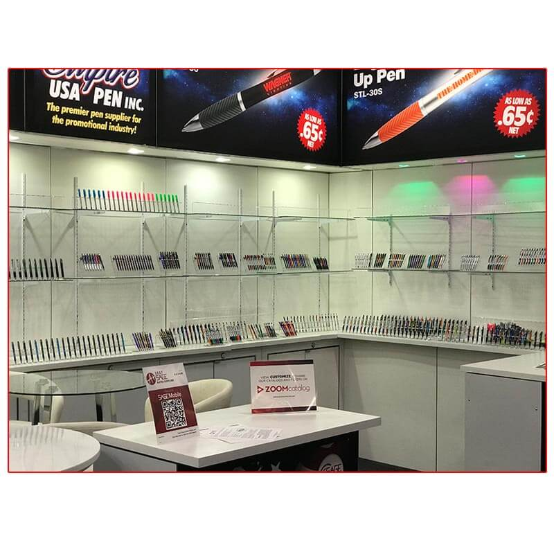 Empire USA Pen - 10x20 Trade Show Booth Rental Package 207 -Product Display - LV Exhibit Rentals in Las Vegas