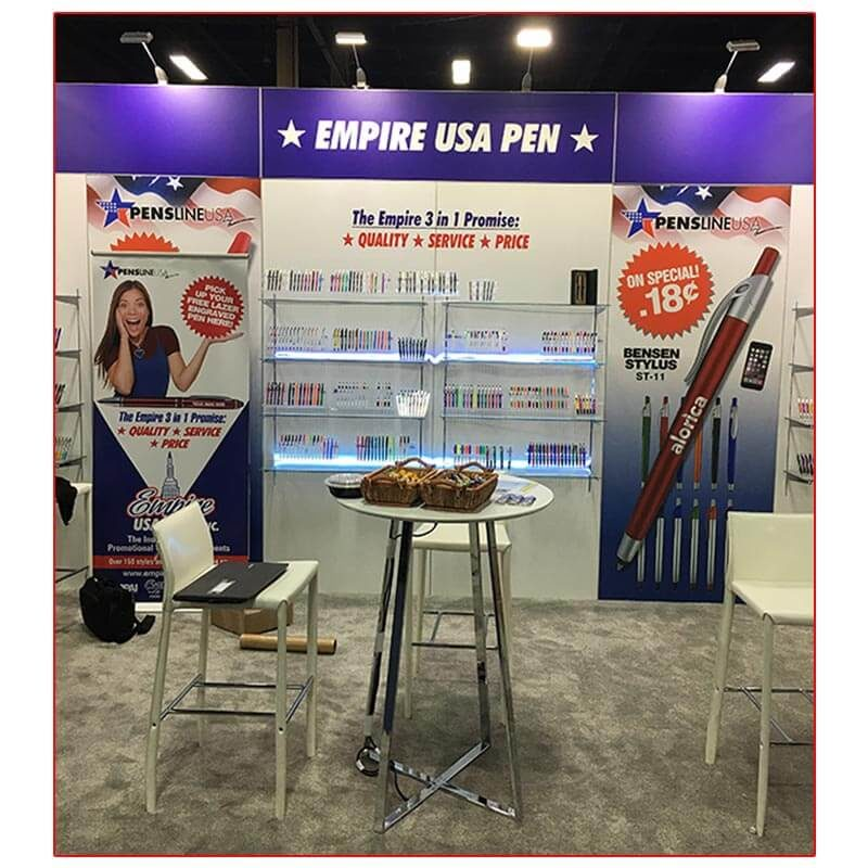 Empire USA Pen - 10x20 Trade Show Booth Rental Package 217 - LV Exhibit Rentals in Las Vegas
