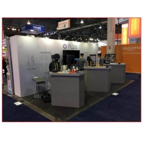 Flux - 10x20 Trade Show Booth Rental Package 208 - LV Exhibit Rentals in Las Vegas