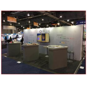 Flux - 10x20 Trade Show Booth Rental Package 208 Angle View - LV Exhibit Rentals in Las Vegas