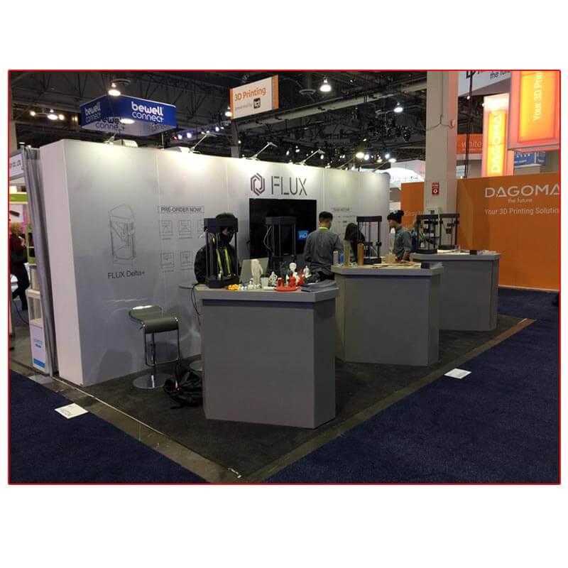 Flux - 10x20 Trade Show Booth Rental Package 208 - LV Exhibit Rentals in Las Vegas