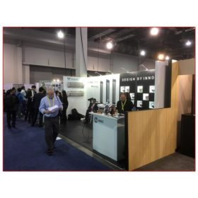 Inno Design - 10x20 Trade Show Booth Rental Package 214 Angle View - LV Exhibit Rentals in Las Vegas