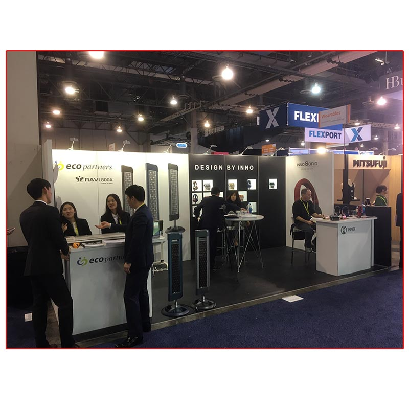 Inno Design - 10x20 Trade Show Booth Rental Package 214 Front View - LV Exhibit Rentals in Las Vegas