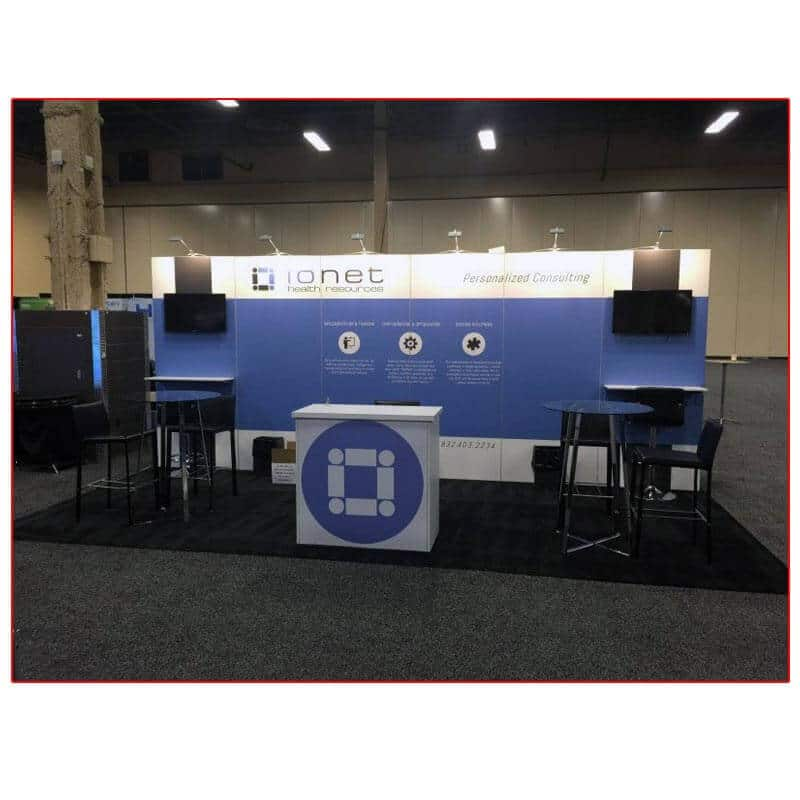 Ionet - 10x20 Trade Show Booth Rental Package 210 Variation - LV Exhibit Rentals in Las Vegas