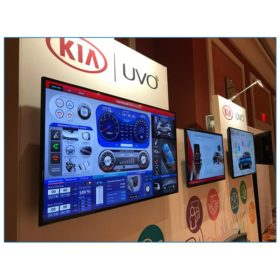 Kia - 10x10 Trade Show Booth Rental Package 115 - Close up of LED Monitors