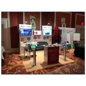 Kia - 10x10 Trade Show Booth Rental Package 115 - Front View - LV Exhibit Rentals in Las Vegas