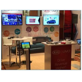 Kia - 10x10 Trade Show Booth Rental Package 115 - Reception Counter - LV Exhibit Rentals in Las Vegas