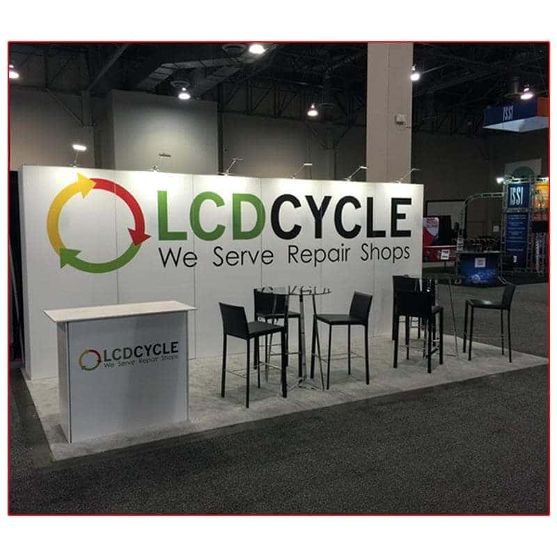 LCD Cycle - 10x20 Trade Show Booth Rental Package 210 - LV Exhibit Rentals in Las Vegas