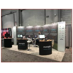 Marquis Broadcast - 10x20 Trade Show Booth Rental Package 200 - LV Exhibit Rentals in Las Vegas