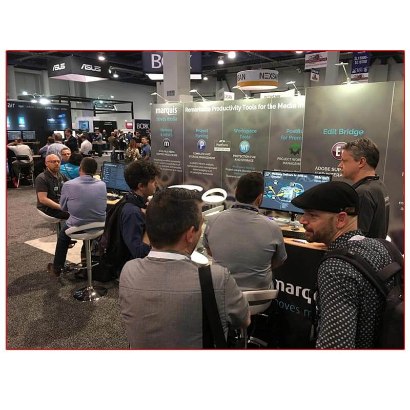 Marquis Broadcast - NAB 2019 - 10x20 Trade Show Booth Rental Package 213 - LV Exhibit Rentals in Las Vegas