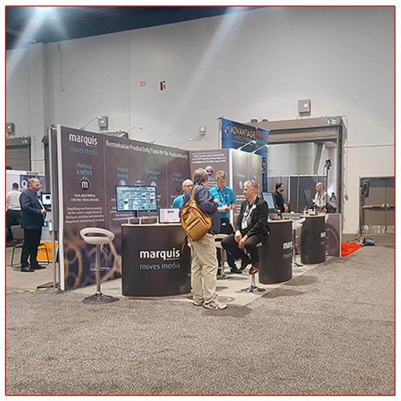 Marquis Broadcast - NAB 2019 - 10x20 Trade Show Booth Rental Package 213 - Side View - LV Exhibit Rentals in Las Vegas
