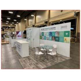 Sacco System - 10x20 Trade Show Rental Package 213 Side View - LV Exhibit Rentals in Las Vegas