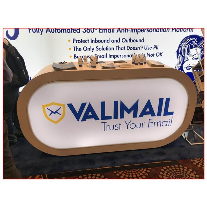 Valimail - 10x20 Trade Show Booth Rental Package 205 - Custom Lightbox Reception Counter - LV Exhibit Rentals in Las Vegas