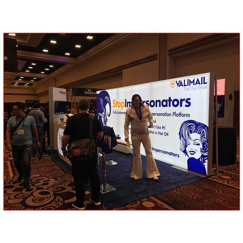 Valimail - 10x20 Trade Show Booth Rental Package 205 - LV Exhibit Rentals in Las Vegas