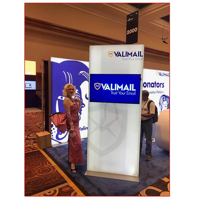Valimail - 10x20 Trade Show Booth Rental Package 205 - Lightbox Kiosk - LV Exhibit Rentals in Las Vegas