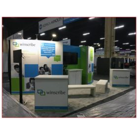 Winscribe - 10x20 Trade Show Booth Rental Package 216 - LV Exhibit Rentals in Las Vegas