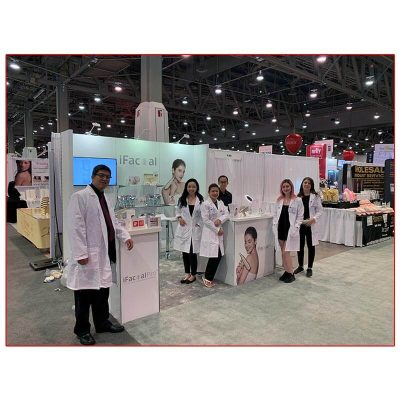 iFacial Pro - 10x10 Trade Show Rental Package 120 - Angle View - LV Exhibit Rentals in Las Vegas