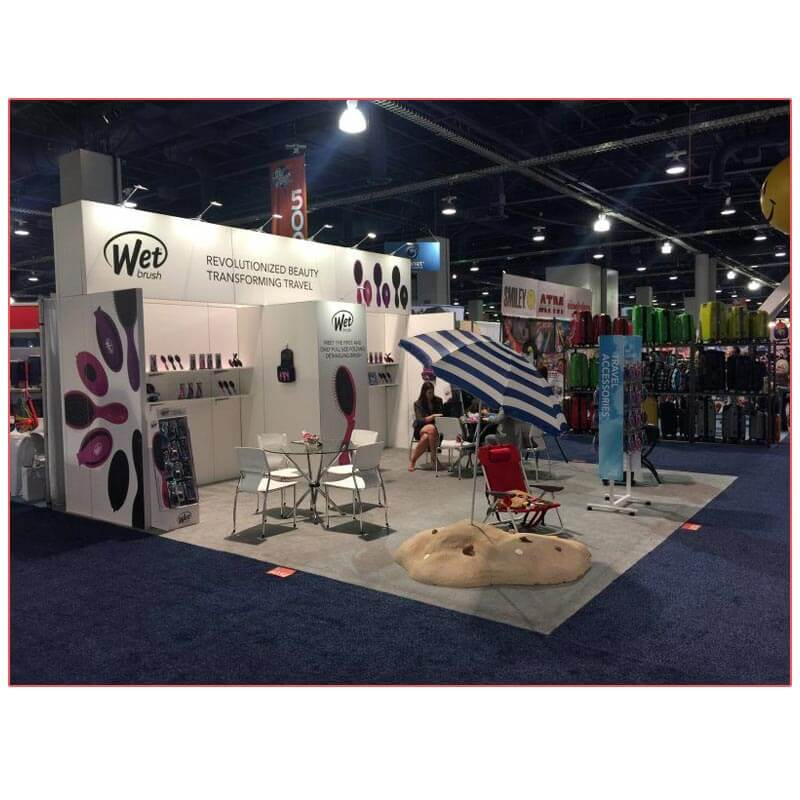 20x20 Trade Show Booth Rental Package 400 - Side View - LV Exhibit Rentals in Las Vegas