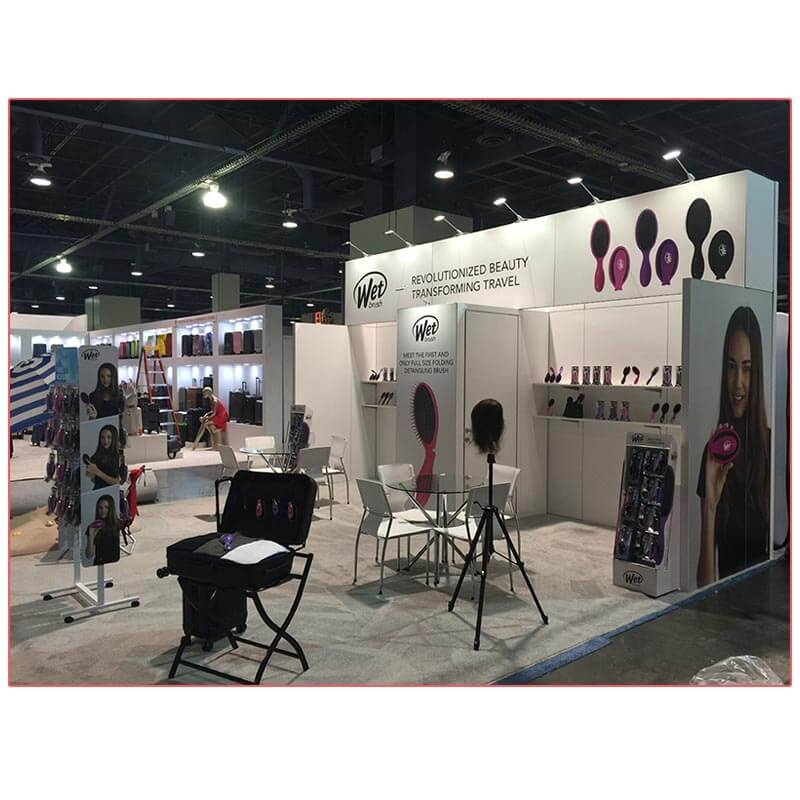 20x20 Trade Show Booth Rental Package 400 - Side View2 - LV Exhibit Rentals in Las Vegas